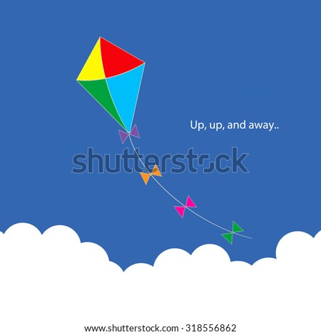 Kite - Up, up, and away.. - stock photo