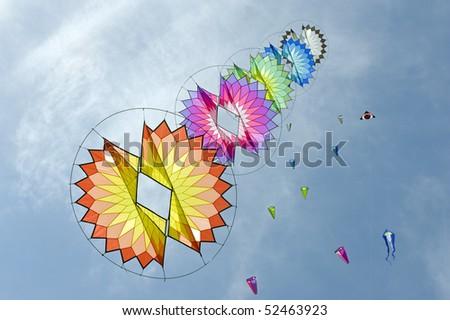 Kites. - stock photo