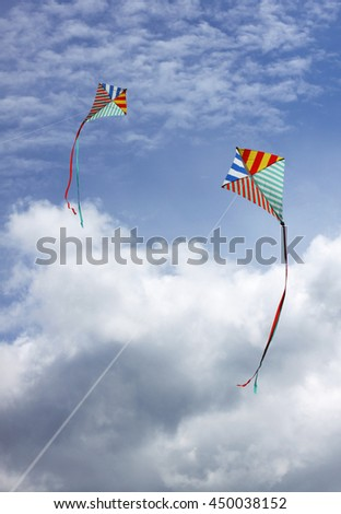 Kites in the sky - stock photo