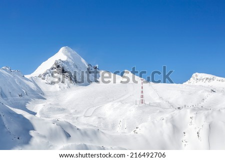 Kitzsteinhorn Glacier, Kaprun, Austria - stock photo