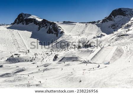 Kitzsteinhorn ski region in Austria - stock photo