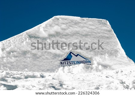 Kitzsteinhorn ski resort abstract - stock photo