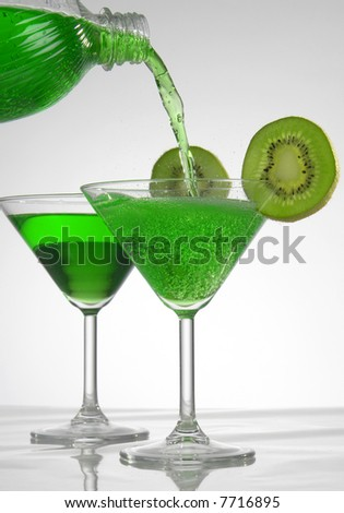 kiwi a drink on a white background