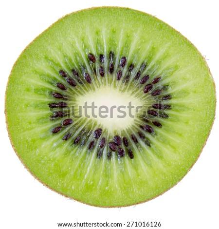 Kiwi fruit inside with seeds - stock photo
