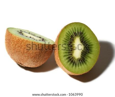 Kiwi fruit - isolated - stock photo