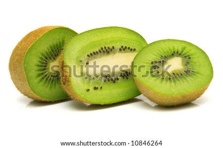 kiwi fruit on a white background. Isolation on white.