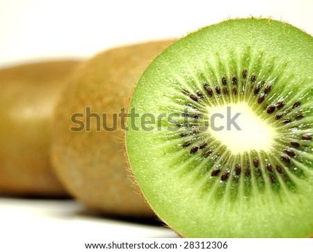 kiwi fruit sliced - stock photo