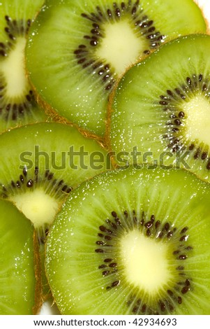 Kiwi fruit slices