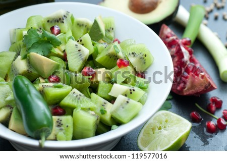 Kiwi Salsa - stock photo