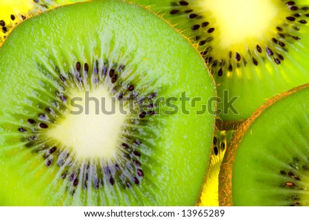 kiwi slices - stock photo