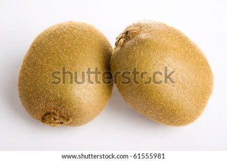 kiwifruit isolated on white - stock photo