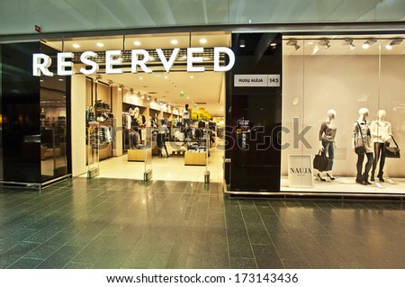 KLAIPEDA, LITHUANIA- JAN 14: RESERVED store on January 24, 2014 in Klaipeda, Lithuania.