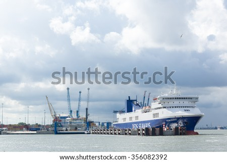 KLAIPEDA, LITHUANIA - JULE 30: Ships in Klaipeda Harbour on Jule 30, 2015 Klaipeda, Lithuania. The Port of Klaipeda is one of the few ice-free ports in northernmost Europe.