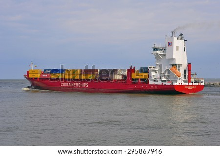 KLAIPEDA, LITHUANIA - JUNE 03: CONTAINERSHIPS in Klaipeda harbor on June 03, 2008 in Klaipeda, Lithuania.