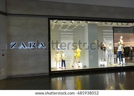KLAIPEDA,LITHUANIA-JUNE 05: ZARA   fashion store on June 05,2017 in Klaipeda,Lithuania.