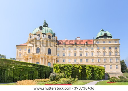 Klosterneuburg Monastery is a twelfth-century Augustinian monastery of the Roman Catholic Church located in the town of Klosterneuburg in Lower Austria - stock photo