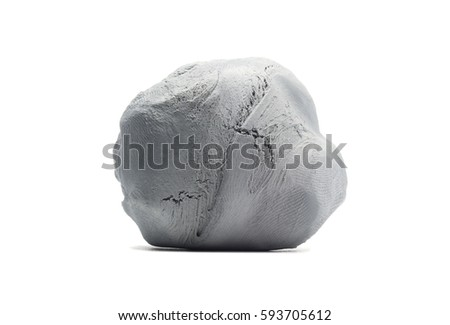 Kneaded eraser on a white background.