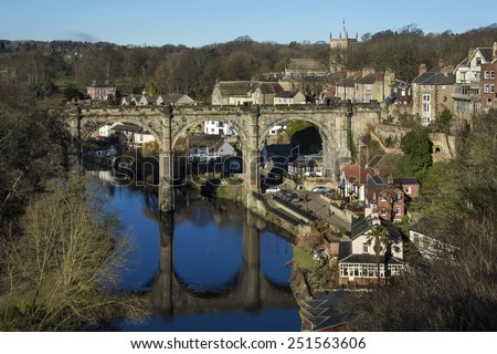 Knearsborough - an historic market town, spa town and civil parish in the Borough of Harrogate in North Yorkshire, England. - stock photo