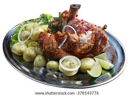 Knee roast pork - stock photo