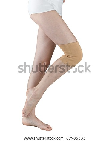 Knee support for relieve your pain - stock photo