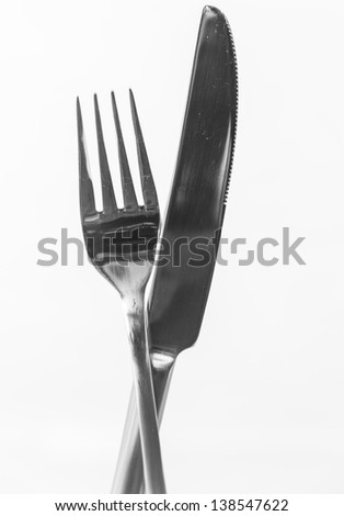 Knife and Fork/ a simple image of a set of cutlery
