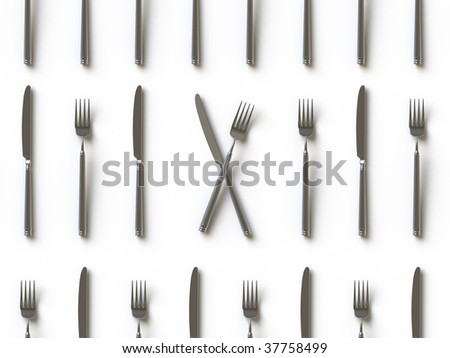 knife and fork. In my portfolio there is collection of pictures of tablewares. You only enter IN a SEARCH the Photographer Name: PAVEL IGNATOV and keyword: TABLEWARE - stock photo