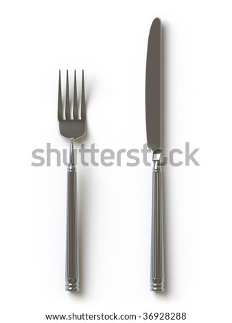 knife and fork, it is done in 3d. In my portfolio there is collection of pictures of tablewares. You only enter IN a SEARCH the Photographer Name: PAVEL IGNATOV and keyword: TABLEWARE - stock photo