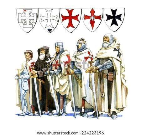 Knights Templar - stock photo