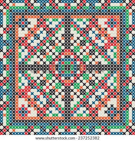 Knit tile pattern - stock photo