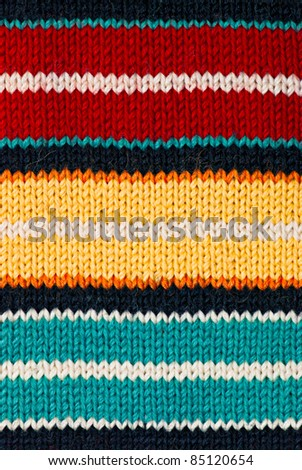 Knit woolen texture. Fabric multicolor background - stock photo