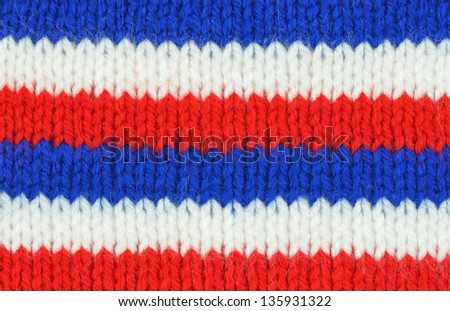 Knitted background texture - stock photo