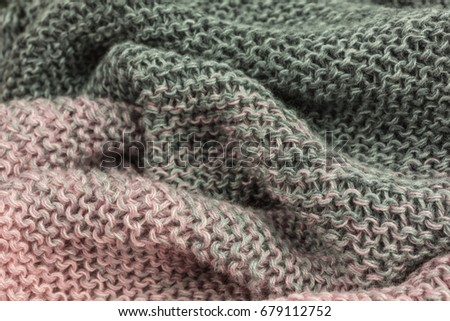 Knitted Fabric Background Garter Stitch Pattern Stock Photo Royalty