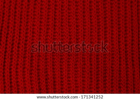 knitted pattern red/wool texture background