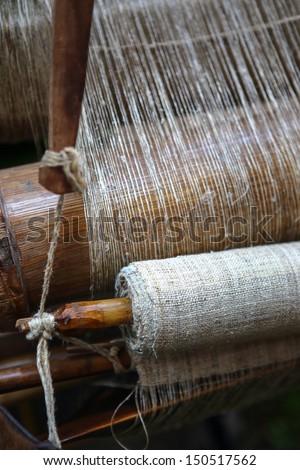 Knitting machine - stock photo