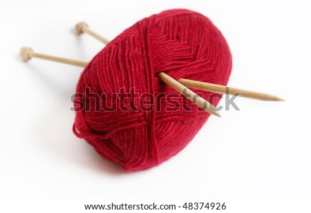 knitting-needles and threads