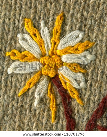 Knitting patterns. Handmade. - stock photo