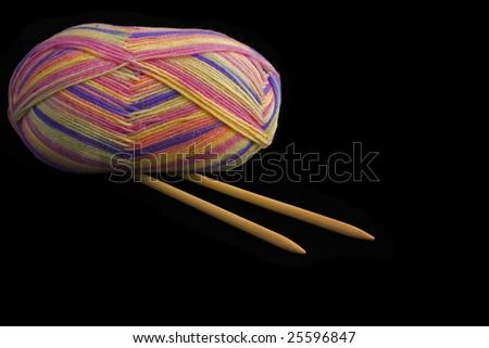 knitting wool - stock photo