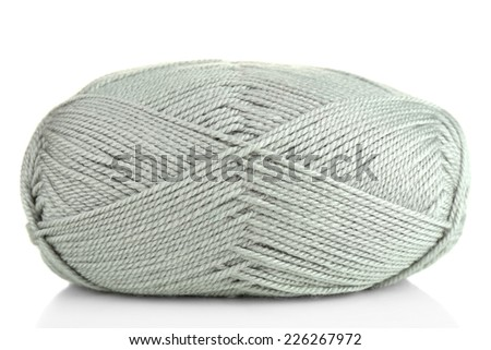 Knitting yarn isolated on white
