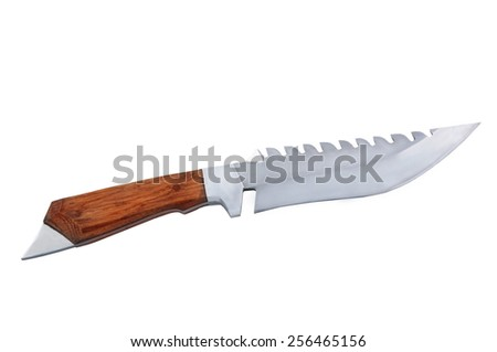Knives Isolated on a White Background - stock photo