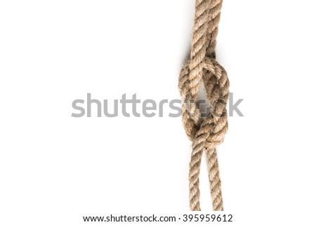 Knot of jute rope