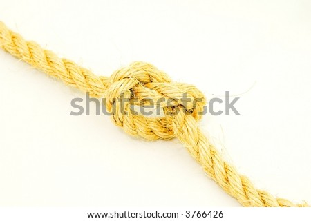 Knot on white