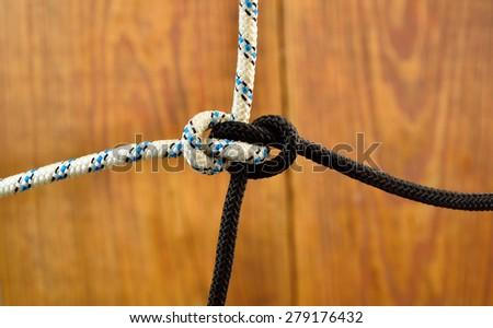 knot Zeppelin Bend - stock photo