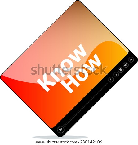 know how on media player interface - stock photo
