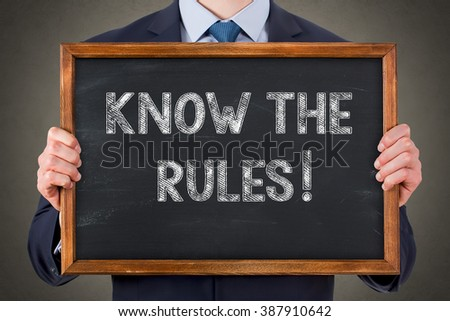 Know The Rules - stock photo