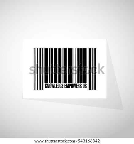 knowledge empowers us barcode sign concept illustration design graphic