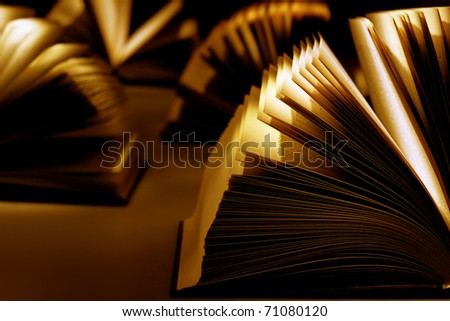 Knowledge is light. Ignorance is darkness - stock photo