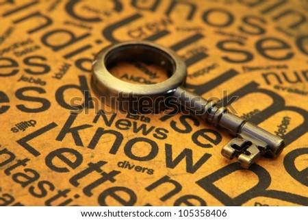 Knowledge key - stock photo