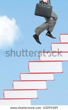 Knowledge staircase - stock photo