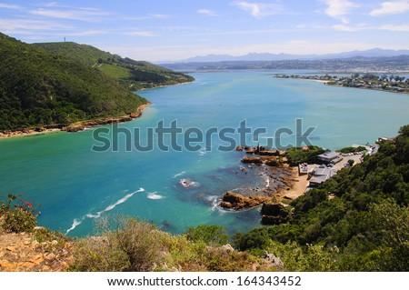 Knysna Lagoon in the Garden Route, South Africa - stock photo