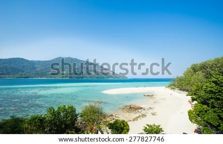 Ko Lipetropical beach paradise in Thailand - stock photo
